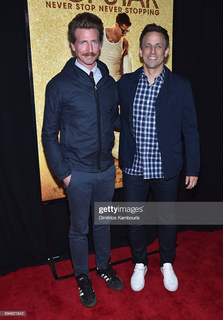 <a gi-track='captionPersonalityLinkClicked' href=/galleries/search?phrase=Josh+Meyers+-+Actor&family=editorial&specificpeople=12906216 ng-click='$event.stopPropagation()'>Josh Meyers</a> and <a gi-track='captionPersonalityLinkClicked' href=/galleries/search?phrase=Seth+Meyers&family=editorial&specificpeople=618859 ng-click='$event.stopPropagation()'>Seth Meyers</a> attend 'Popstar: Never Stop Never Stopping' premiere at AMC Loews Lincoln Square 13 theater on May 24, 2016 in New York City.