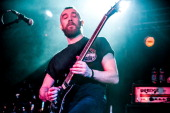 Josh Middleton of Sylosis performs on stage at Solus on April 3 2014 in Cardiff United Kingdom