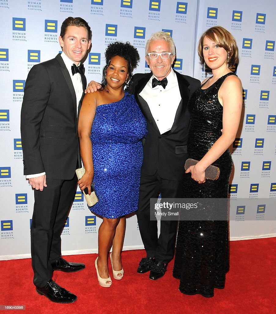 Josh Miller, Latoya Holman, Roger Thomas and Drew Thomas attend the 8th Annual Human Rights Campaign Dinner Gala at the Aria Resort & Casino on May 18, 2013 in Las Vegas, Nevada.