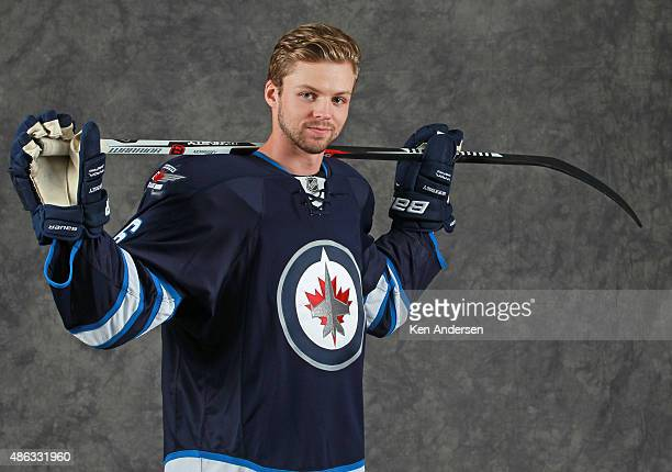 Josh Morrissey of the Winnipeg Jets poses for an NHLPA Rookie Showcase portrait at the Westin Harbour Castle on August 312015 in Toronto Ontario...
