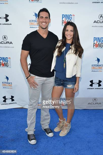 Josh Murray and Andi Dorfman attend Clayton Kershaw's 2nd Annual Ping Pong 4 Purpose Charity Event Benefiting 'Kershaw's Challenge' at Dodger Stadium...