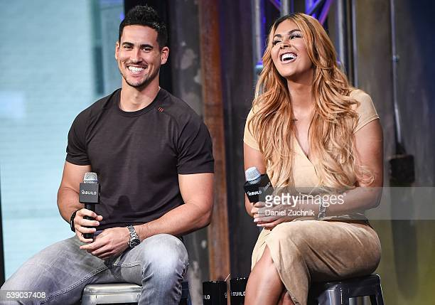 Josh Murray and Somaya Reece attend AOL Build to discuss 'Famously Single' at AOL Studios on June 9 2016 in New York City