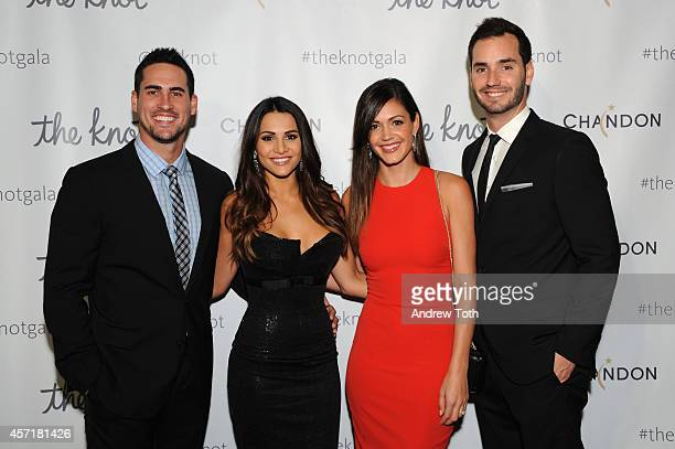 Josh Murray Andi Dorfman Desiree Hartsock and Chris Siegfried attend the 5th Anniversary Of The Knot Gala at New York Public Library on October 13...
