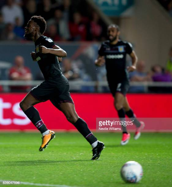 Josh Onomah of Aston Villa scores for Aston Villa during the Sky Bet Championship match between Bristol City and Aston Villa at Ashton Gate on August...