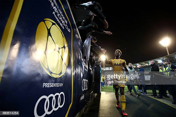 Josh Onomah of Tottenham walks off the field after the 2016 International Champions Cup match between Juventus FC and Tottenham Hotspur at Melbourne...