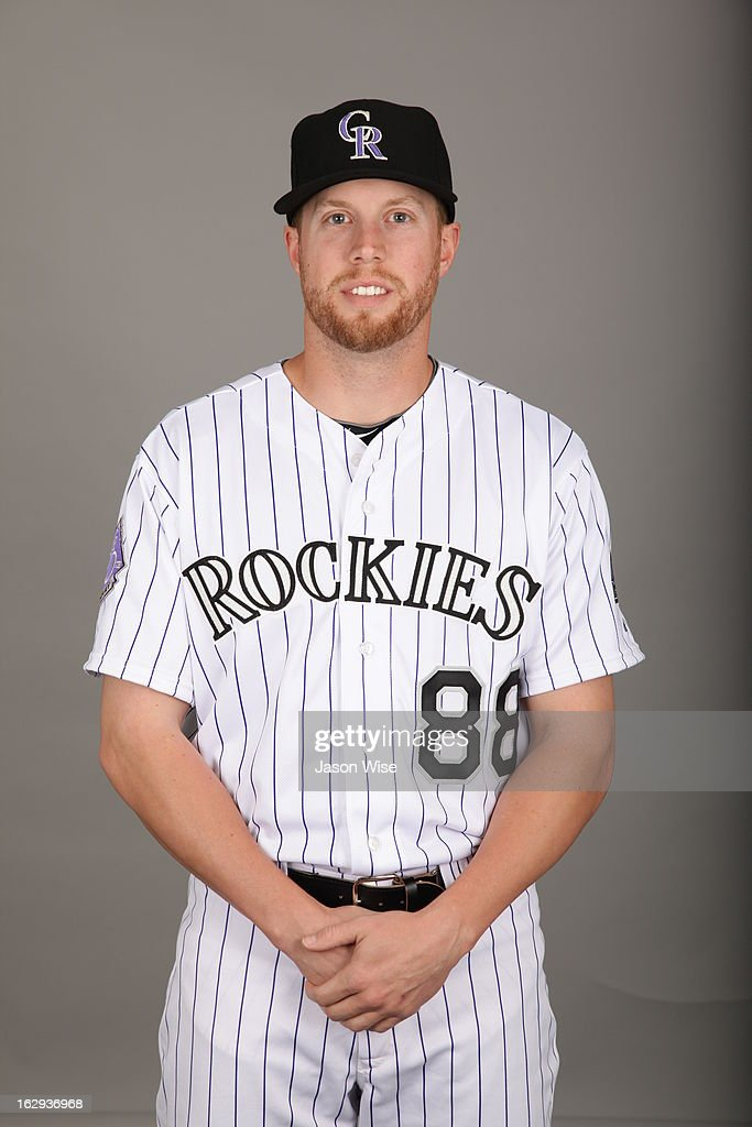<a gi-track='captionPersonalityLinkClicked' href=/galleries/search?phrase=Josh+Outman&family=editorial&specificpeople=4900182 ng-click='$event.stopPropagation()'>Josh Outman</a> #88 of the Colorado Rockies poses during Photo Day on Thursday, February 21, 2013 at Salt River Fields at Talking Stick in Scottsdale, Arizona.