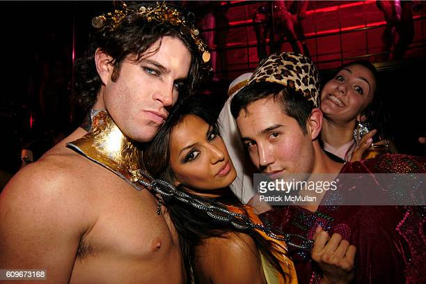 Josh Owens Delicia and Max Jones attend MARC JACOBS 2007 Holiday Party Arabian Nights Masquerade Ball at Rainbow Room on December 12 2007 in New York...