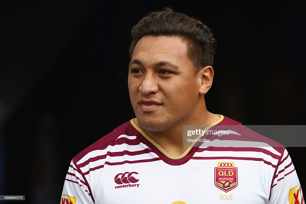 Josh Papalii walks out of the tunnel during a Queensland Maroons State Of Origin captain's run at ANZ Stadium on May 31, 2016 in Sydney, Australia.