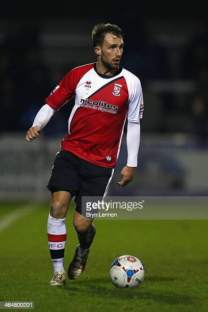 Josh Payne of Woking FC in action during the Skrill Conference Premier match between Woking and Chester at the Kingfield Stadium on January 21 2014...