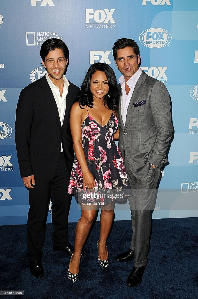 Josh Peck, Christina Milian and John Stamos attend 2015 FOX Programming Presentation at Wollman Rink, Central Park on May 11, 2015 in New York City.