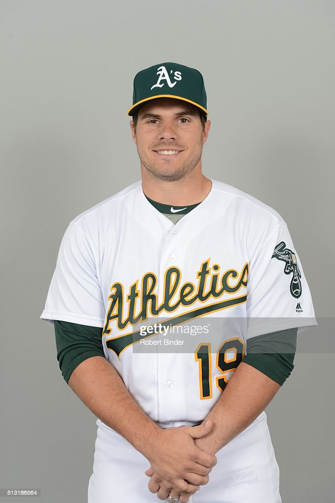 <a gi-track='captionPersonalityLinkClicked' href=/galleries/search?phrase=Josh+Phegley&family=editorial&specificpeople=6796472 ng-click='$event.stopPropagation()'>Josh Phegley</a> #19 of the Oakland Athletics poses during Photo Day on Monday, February 29, 2016 at Hohokam Stadium in Phoenix, Arizona.