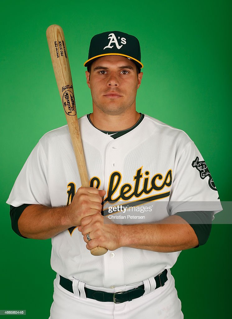 <a gi-track='captionPersonalityLinkClicked' href=/galleries/search?phrase=Josh+Phegley&family=editorial&specificpeople=6796472 ng-click='$event.stopPropagation()'>Josh Phegley</a> #19 of the Oakland Athletics poses for a portrait during the spring training photo day at HoHoKam Stadium on February 28, 2015 in Mesa, Arizona.