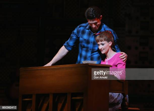 Josh Piterman performs the role of Gerry Goffin and Esther Hannaford the role of Carole King during rehearsal for Beautiful The Carole King Musical...