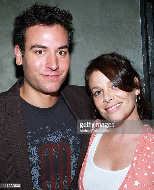 Josh Radnor and Meredith Salenger during Karaoke Fundraiser to Benefit The Art of Elysium at The Maple Drive in Beverly Hills California United States