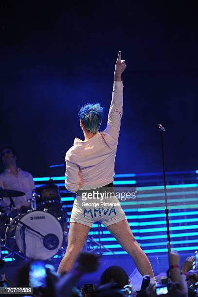 Josh Ramsay of Marianas Trench performs at the 2013 MuchMusic Video Awards at MuchMusic HQ on June 16 2013 in Toronto Canada