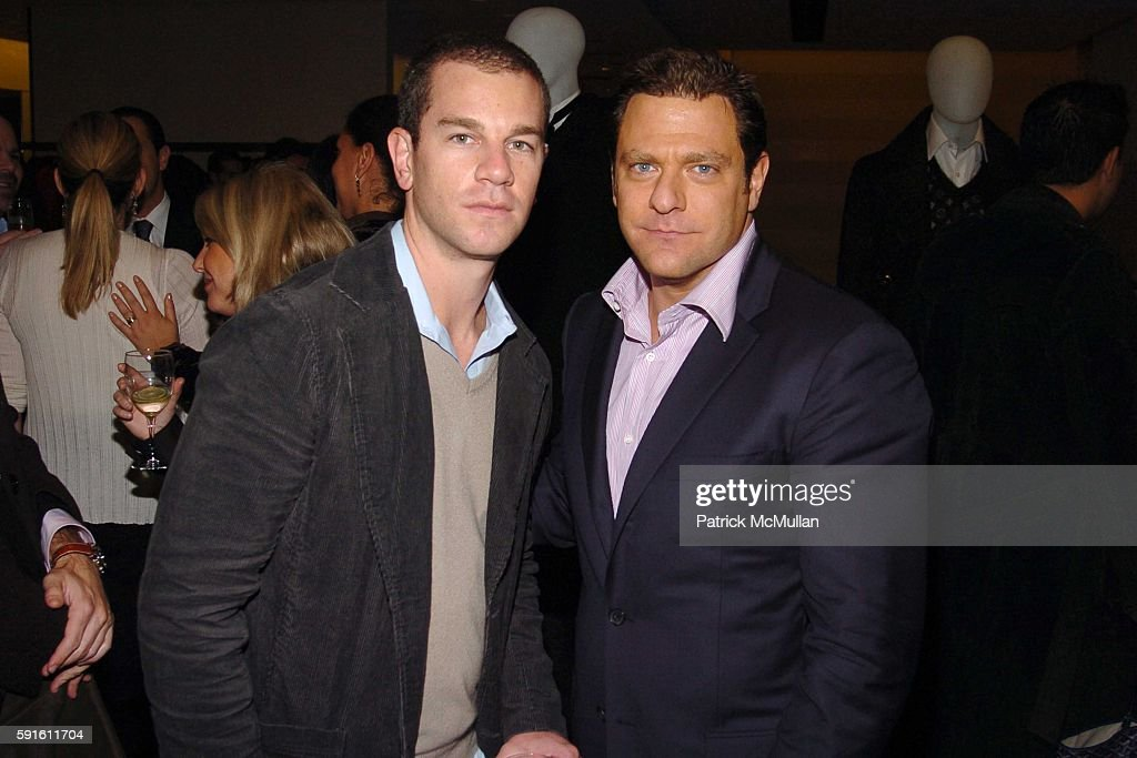 Josh Reed and Paul Jowdy attend LOUIS VUITTON and Matthew Marden of DETAILS host a private cocktail party at Louis Vuitton on November 15 2005 in New...
