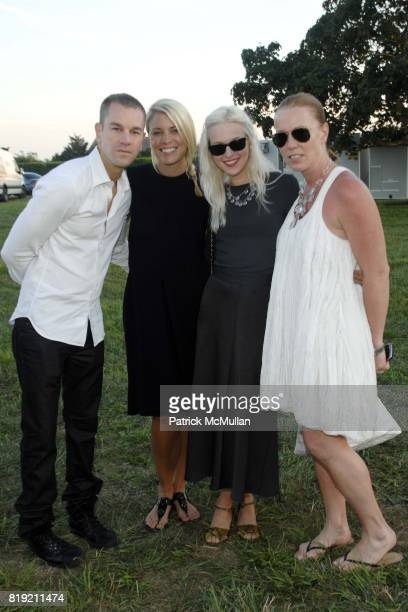 Josh Reed Lauren Dudley Blake Olmstead and Jennifer Crawford attend ACRIA's Annual 'Cocktails at Sunset' Presented by Calvin Klein Collection Vanity...