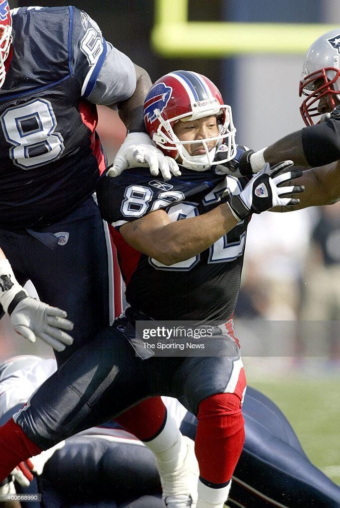Josh Reed of the Buffalo Bills in action during a game against the New England Patriots on September 7 2003 at Ralph Wilson Stadium in Orchard Park...
