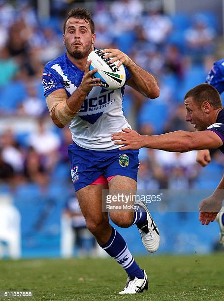 Josh Reynolds of the Bulldogs in action during the NRL Trial match between the Canterbury Bulldogs and the Melbourne Storm at Belmore Sports Ground...