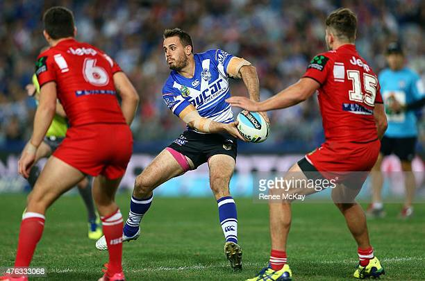 Josh Reynolds of the Bulldogs in action during the round 13 NRL match between the Canterbury Bulldogs and the St George Illawarra Dragons at ANZ...