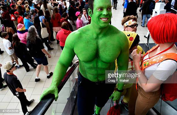 Josh Rhodes dressed as the Hulk during Denver Comic Con at the Colorado Convention Center in Denver CO May 23 2015 In only its fourth year the Denver...