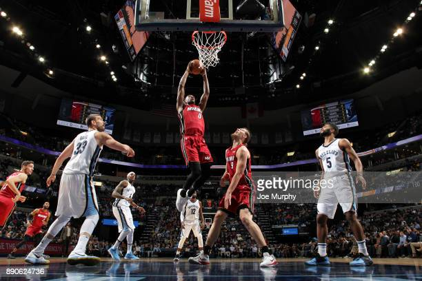 Josh Richardson of the Miami Heat dunks against the Memphis Grizzlies on December 11 2017 at FedExForum in Memphis Tennessee NOTE TO USER User...