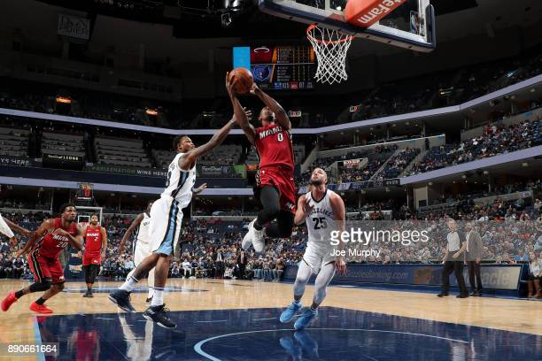 Josh Richardson of the Miami Heat goes to the basket against the Memphis Grizzlies on December 11 2017 at FedExForum in Memphis Tennessee NOTE TO...