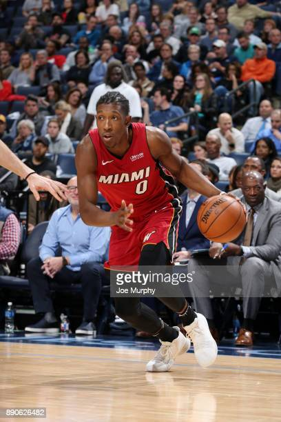 Josh Richardson of the Miami Heat handles the ball against the Memphis Grizzlies on December 11 2017 at FedExForum in Memphis Tennessee NOTE TO USER...