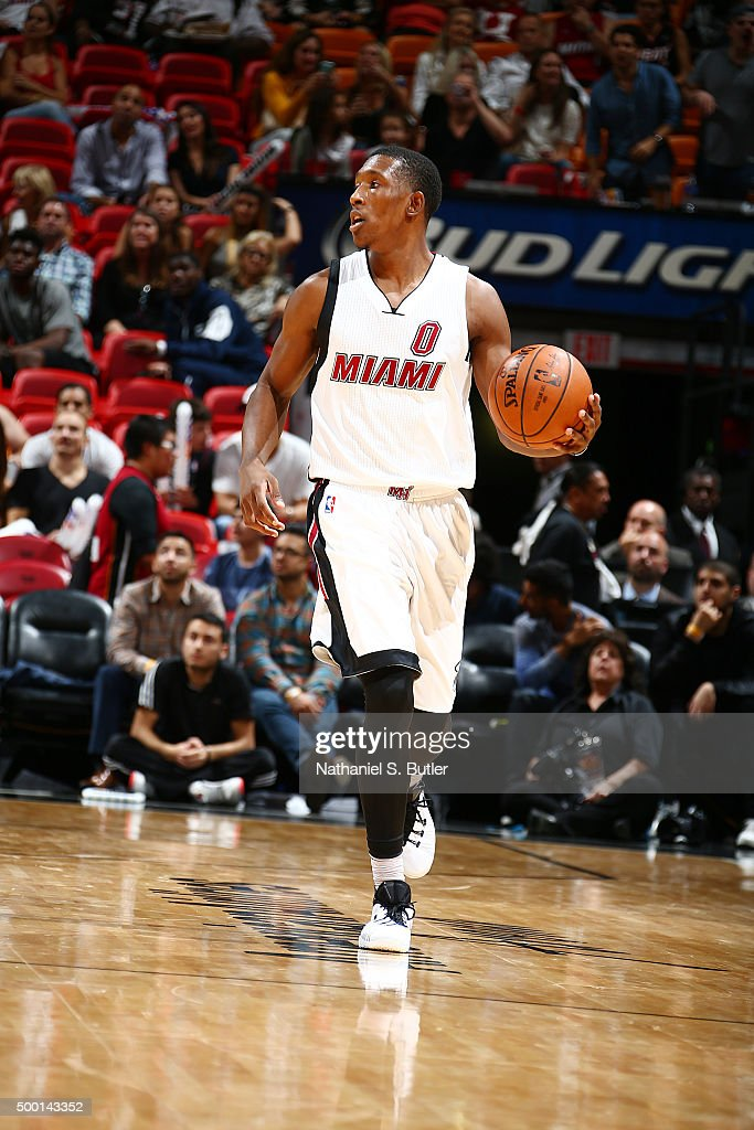 <a gi-track='captionPersonalityLinkClicked' href=/galleries/search?phrase=Josh+Richardson+-+Basketballer&family=editorial&specificpeople=14718165 ng-click='$event.stopPropagation()'>Josh Richardson</a> #0 of the Miami Heat handles the ball during the game against the Cleveland Cavaliers on December 5, 2015 at AmericanAirlines Arena in Miami, Florida.