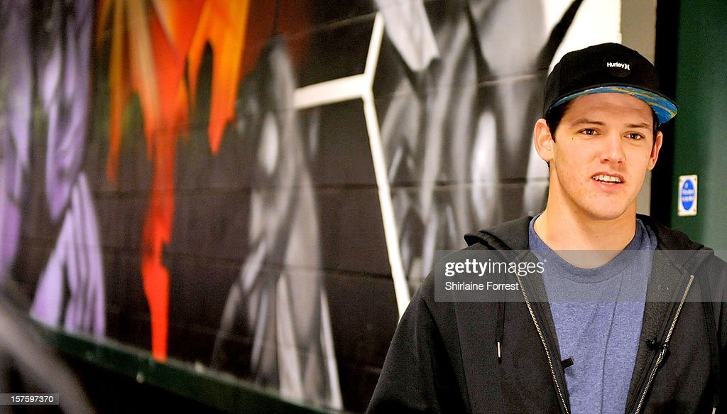 Josh Roberts poses backstage at Nitro Circus Live at Manchester Arena on December 4, 2012 in Manchester, England.