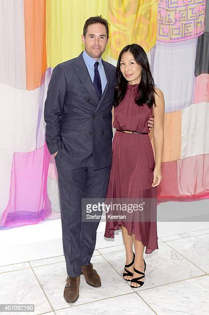 Josh Roth and Sonya Roth attend the Hammer Museum's 12th annual Gala in the Garden with generous support from Bottega Veneta at the Hammer Museum on...