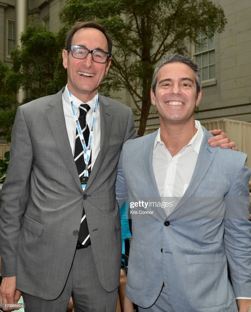 Josh Saban and <a gi-track='captionPersonalityLinkClicked' href=/galleries/search?phrase=Andy+Cohen+-+Personalidad+de+televisi%C3%B3n&family=editorial&specificpeople=7879180 ng-click='$event.stopPropagation()'>Andy Cohen</a> pose for a photo during the NCTA Reception hosted by A+E Networks at Smithsonian American Art Museum & National Portrait Gallery on June 11, 2013 in Washington, DC.