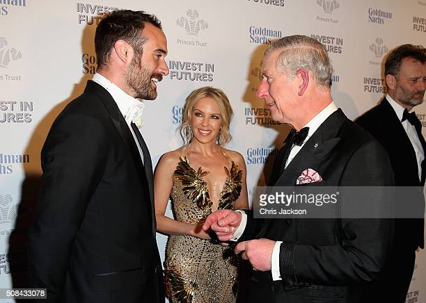 Josh Sasse Kylie Minogue and Prince Charles Prince of Wales attend a predinner reception for the Prince's Trust Invest in Futures Gala Dinner at The...