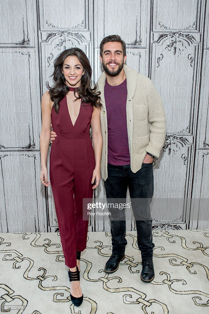 Josh Segarra and Ana Villafane discuss starring as Gloria and Emilio Estefan in the Broadway musical On Your Feet at AOL Studios In New York on January 28, 2016 in New York City.