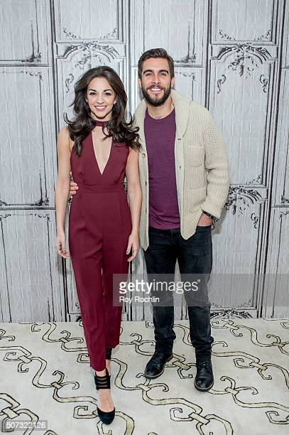 Josh Segarra and Ana Villafane discuss starring as Gloria and Emilio Estefan in the Broadway musical On Your Feet at AOL Studios In New York on...