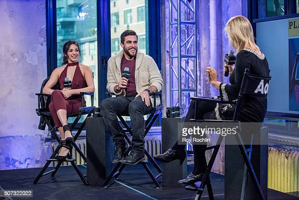 Josh Segarra and Ana Villafane discuss with Laura Haywood starring as Gloria and Emilio Estefan in the Broadway musical On Your Feet at AOL Studios...