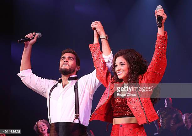 Josh Segarra as 'Emilio Estefan' and Ana Villafane as 'Gloria Estefan' perform at the first performance of 'On Your Feet The Story Of Emilio And...