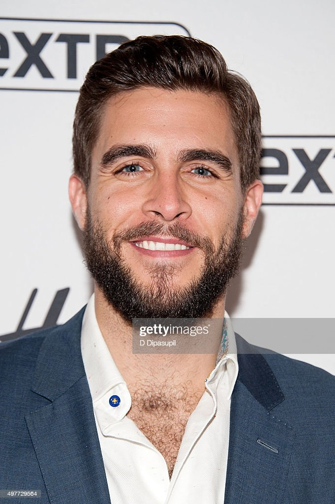 Josh Segarra visits 'Extra' at their New York Studios at H&M in Times Square on November 18, 2015 in New York City.
