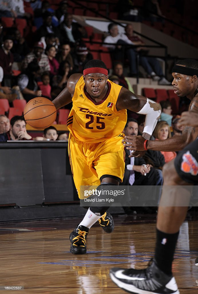 <a gi-track='captionPersonalityLinkClicked' href=/galleries/search?phrase=Josh+Selby&family=editorial&specificpeople=6902823 ng-click='$event.stopPropagation()'>Josh Selby</a> #25 of the Canton Charge drives to the hoop against the Erie BayHawks at the Canton Memorial Civic Center on January 30, 2013 in Canton, Ohio.