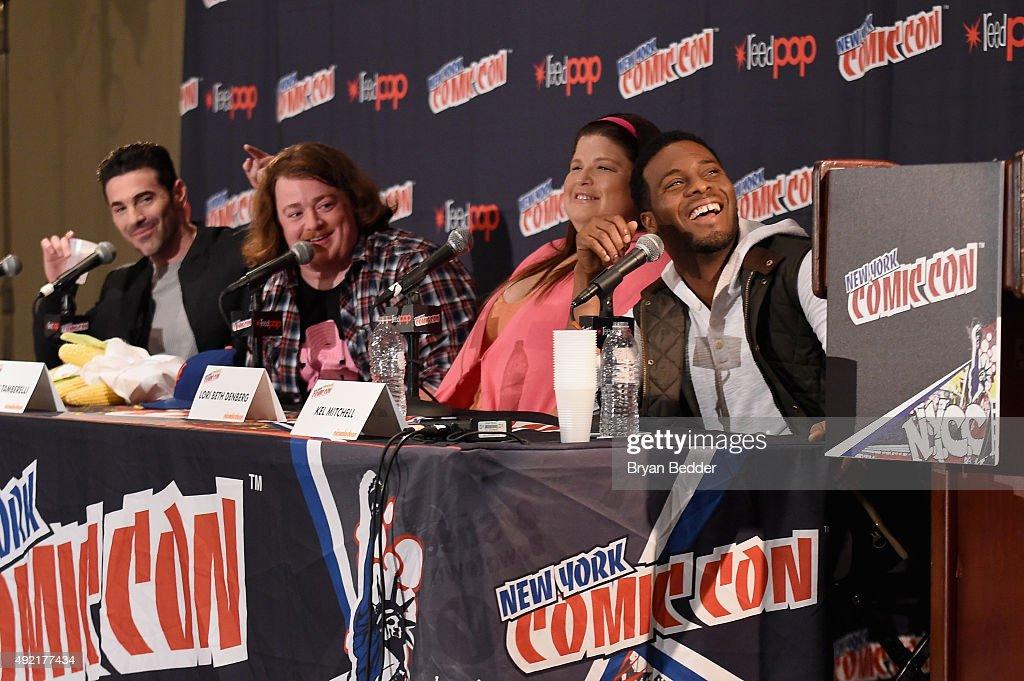 Josh Server, Danny Tamberelli, Lori Beth Denberg and Kel Mitchell speak at The Splat: All That Reunion At New York Comic-Con on October 10, 2015 in New York City.