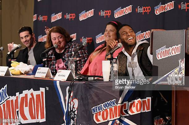 Josh Server Danny Tamberelli Lori Beth Denberg and Kel Mitchell speak at The Splat All That Reunion At New York ComicCon on October 10 2015 in New...