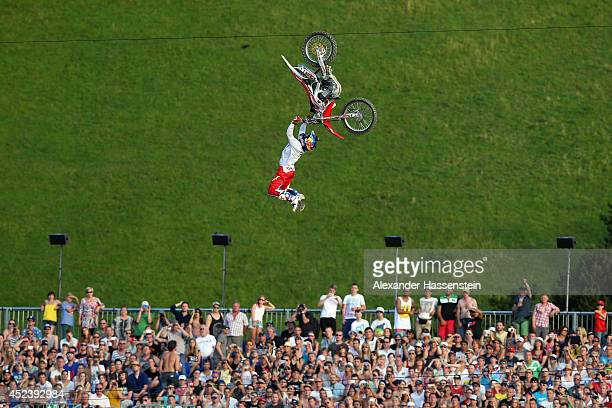 Josh Sheehan of Australia in action during the Red Bull XFighters World Tour at the Munich Olympic Park on July 19 2014 in Munich Germany