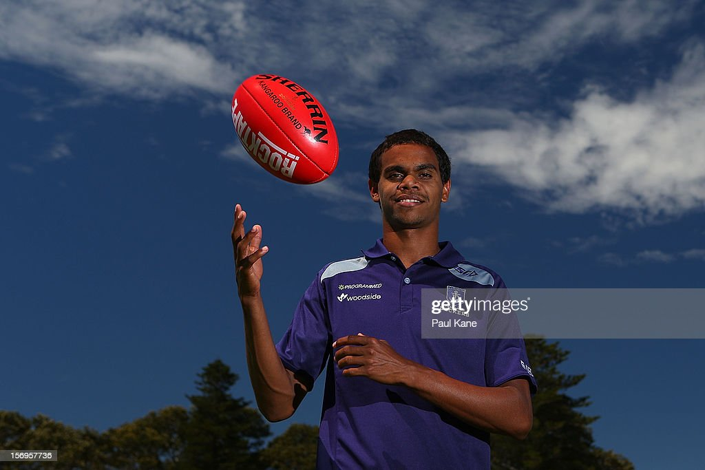 Josh Simpson poses during a Fremantle Dockers AFL pre-season media session at Fremantle Oval on November 26, 2012 in Fremantle, Australia.