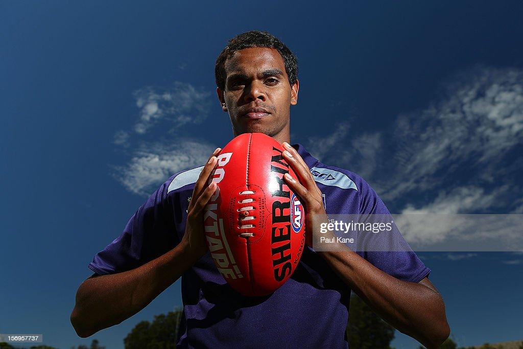 Josh Simpson poses during a Fremantle Dockers AFL pre-season media session at Fremantle Oval on November 26, 2012 in Fremantle, Australia.