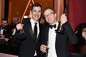 Josh Singer and Tom McCarthy winners of the award for Best Original Screenplay for 'Spotlight' attend the 88th Annual Academy Awards Governors Ball...