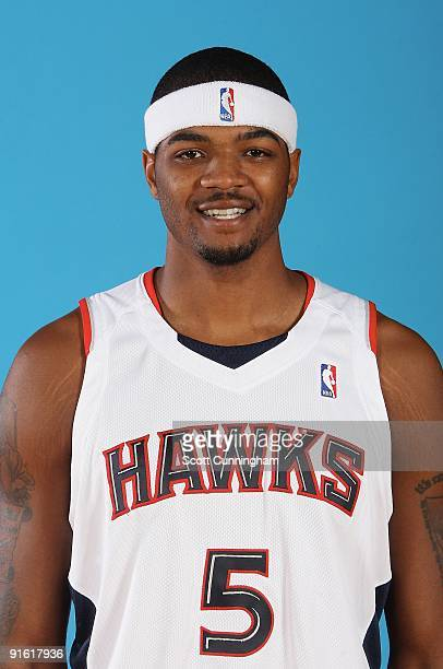 Josh Smith of the Atlanta Hawks poses for a portrait during 2009 NBA Media Day on September 28 2009 at Philips Arena in Atlanta Georgia NOTE TO USER...