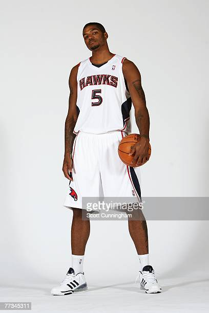 Josh Smith of the Atlanta Hawks poses for a portrait during NBA Media Day at Philips Arena on October 1 2007 in Atlanta Georgia NOTE TO USER User...