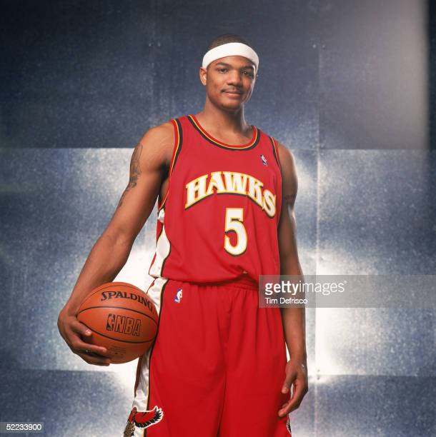 Josh Smith of the Atlanta Hawks poses for a portrait prior to competing in the Sprite Rising Stars Slam Dunk contest during 2005 NBA AllStar Weekend...