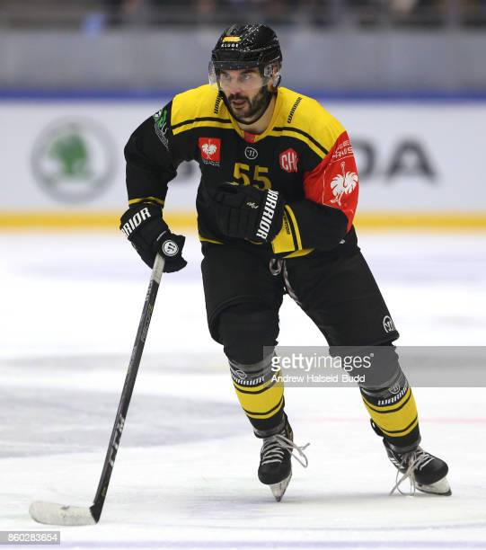 Josh Soares of Stavanger Oilers in action during the Champions Hockey League match between Stavanger Oilers and KalPa Kuopio at the DNB Arena on...
