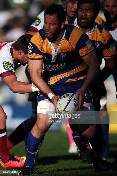 Josh Sole of the Bay of Plenty Steamers runs with the ball during the ITM CUp match between Bay of Plenty and North Harbour on September 7 2014 in...
